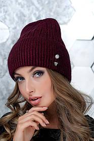 Женская шапка Flirt Сонг One Size бордовая