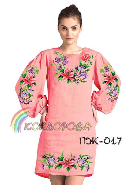 Заготовка жіночого плаття з рукавами (ПЖ-017)