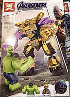 Конструктор SX 4008 Super Heroes Супергерои Халк против Таноса, 292 детали