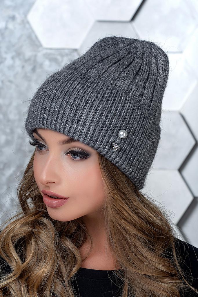 Женская шапка Flirt Сонг One Size серая