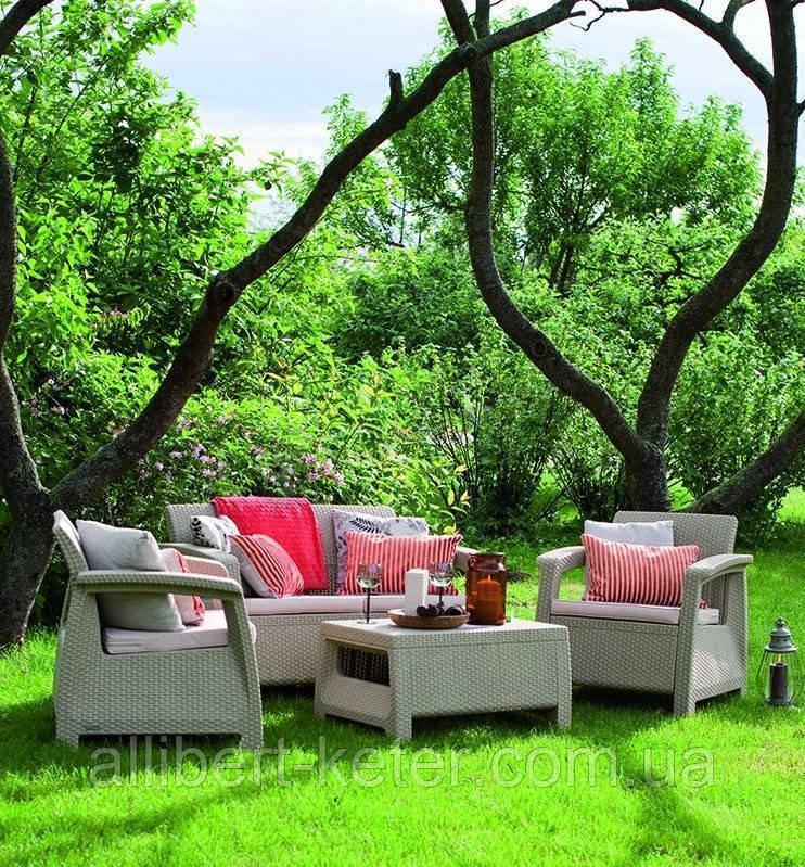 Комплект садовой мебели Allibert Corfu