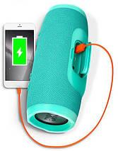 Акция! Колонка JBL Charge 3+ портативная Bluetooth + 2 подарка. бирюзовая, фото 3