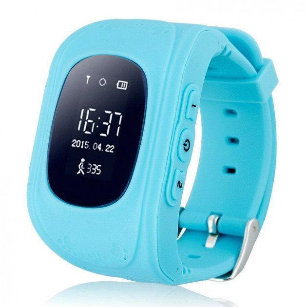 Детские умные смарт-часы Q50 с GPS трекером. Smart Watch голубые