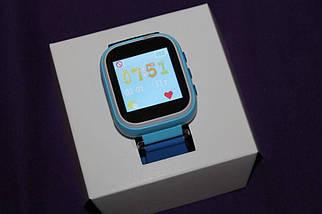 Детские смарт-часы Q80 с GPS трекером. Smart Watch детские умные часы синии, умные часы детские, фото 2
