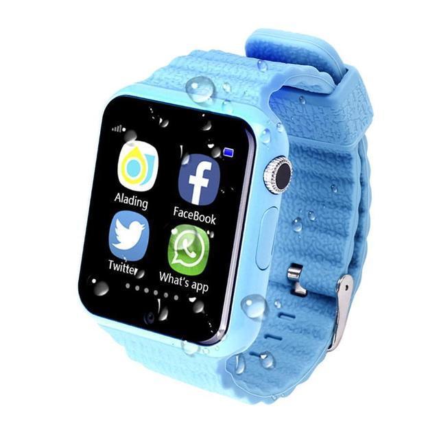 Умные детские часы с  gps трекером SMART BABY watch v7k 3 цвета (gps+lbs)