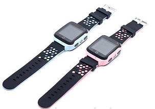 Детские смарт часы Smart Baby Watch Q529 голубые и розовые, фото 3