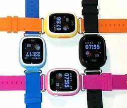 Детские умные смарт часы Q90S/100 с GPS и кнопкой SOS голубые, фото 2