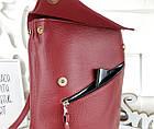 Женская сумка-рюкзак красного цвета, натуральный замш+эко кожа структурная (под бренд), фото 8