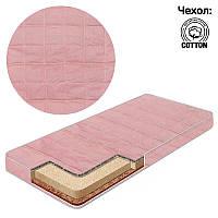 Детский матрас в кроватку TwoToys Розовый (кокос - поролон - гречка - хлопок)