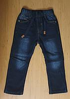 Утеплённые джинсы на флисе для мальчика, р.98