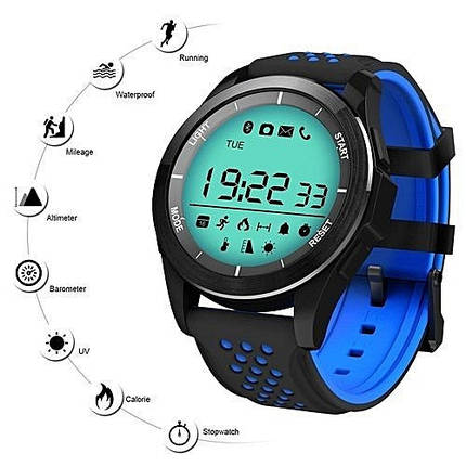 Умные смарт часы Smart Watch F3 водонепроницаемые, original синии Часофон, фото 2