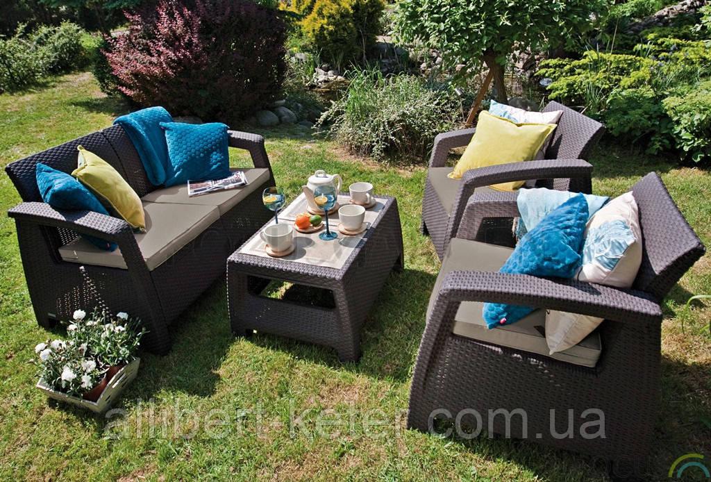 Комплект садовой мебели Curver Corfu