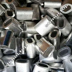 Зажим для троса алюминиевый 1 мм – Затискач клепальний линвовий DIN 3093