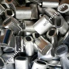 Зажим для троса алюминиевый 2 мм – Затискач клепальний линвовий DIN 3093