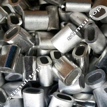 Зажим для троса алюминиевый 3 мм – Затискач клепальний линвовий DIN 3093, фото 2