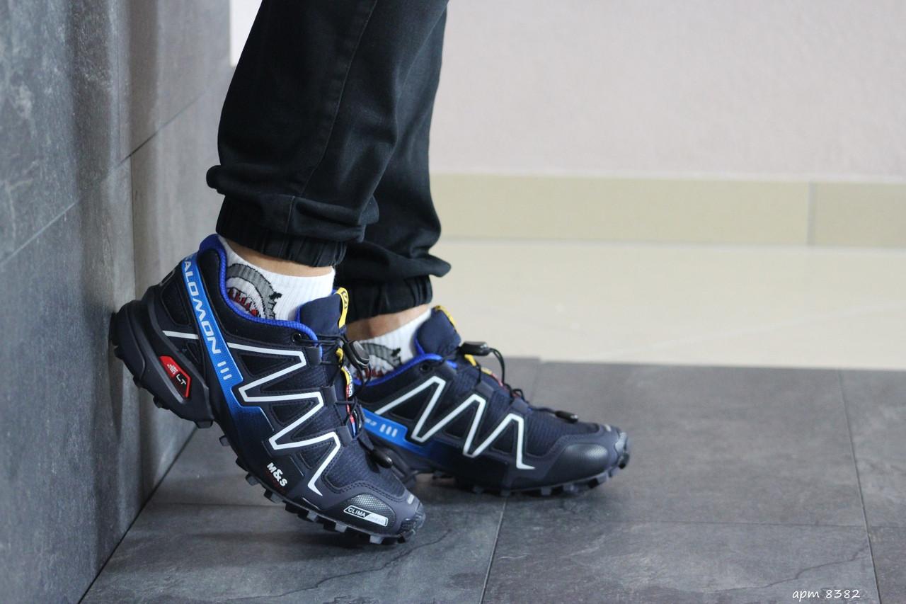 Кроссовки мужские Salomon,кроссовки для бега,темно синие
