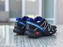 Кроссовки мужские Salomon,кроссовки для бега,темно синие, фото 3