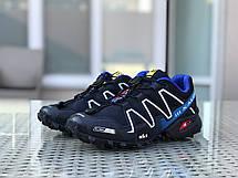 Кроссовки мужские Salomon,кроссовки для бега,темно синие, фото 2