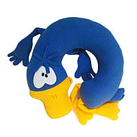 Дизайнерская подушка-подголовник и игрушка Silenta Уточка Синяя