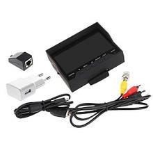 Универсальный видеотестер монитор 4.3 дюйма для настройкикамер.Тестер камер видеосигналаCVBS