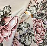Аромат любви 1378-1, павлопосадский платок (шаль, крепдешин) шелковый с шелковой бахромой, фото 5