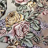 Аромат любви 1378-1, павлопосадский платок (шаль, крепдешин) шелковый с шелковой бахромой, фото 7