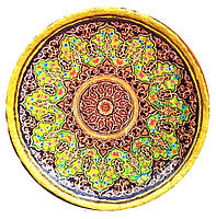 """Декоративная тарелка диаметром 42 см """"Луч Солнца""""  шамотной трипольской глины станет изысканным 0340"""