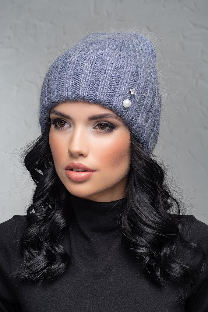 Женская шапка с отворотом Flirt Персия One Size джинс