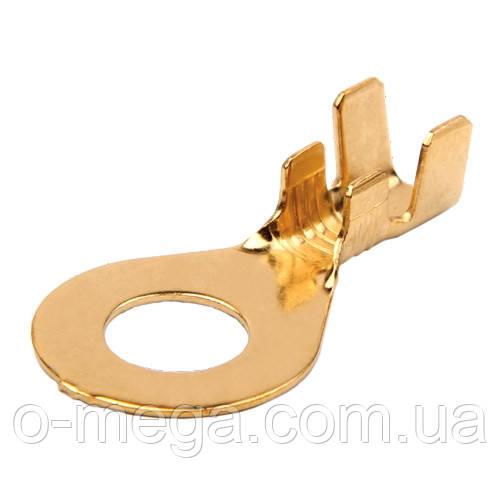 Клемма кольцевая 6 мм (наконечник) латунь без изоляции