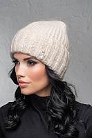 Женская шапка с отворотом Flirt Персия One Size лен