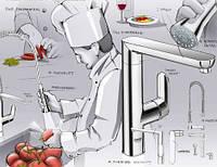 Установка змішувача на кухні