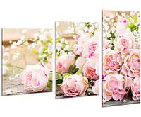 Модульная картина на холсте YS-Art 96х70см Цветы HMD127, КОД: 1081645