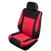 Набор чехлов Vitol Velur на передние сиденья (комплект 6 шт.) Красный ⟃ чёрный