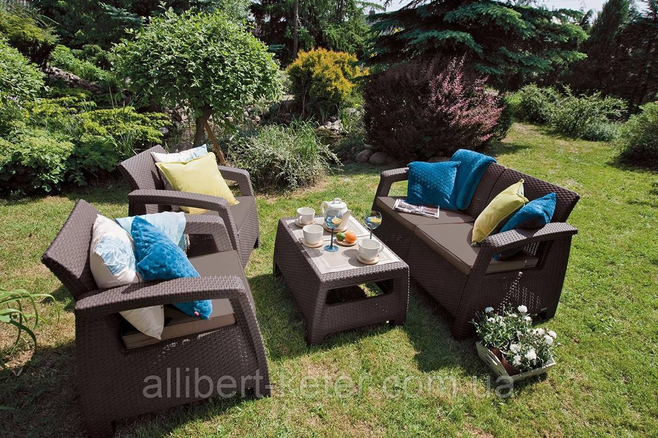 Мебельная гарнитура Corfu Set Allibert Keter Curver