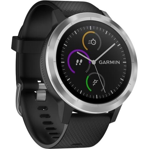 Смарт-годинник Garmin Vivoactive 3 Silver with Black Band з чорним ремінцем