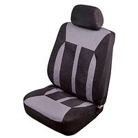 Набор чехлов Vitol Velur на передние сиденья (комплект 6 шт.) Серый ⟃ чёрный
