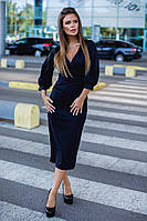 Платье женское классический фасон длинный рукав итальянский трикотаж размер: 42, 44, 46