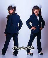 """Школьный костюм двойка для девочки  пиджак+брюки""""Змейка"""", фото 1"""
