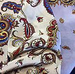 Восточные сладости 1429-14, павлопосадская шаль шелковая с шелковой бахромой   Стандартный сорт, фото 4