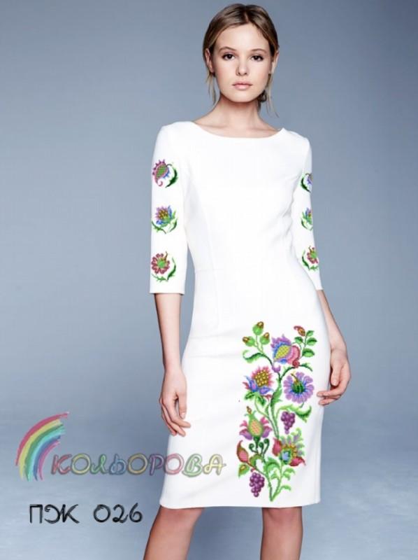 Заготовка жіночого плаття з рукавами (ПЖ-026)
