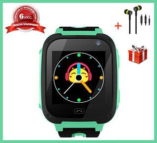 Детские Смарт Часы S4 GPS с сенсорным экраном Цвет Зеленый + Подарок
