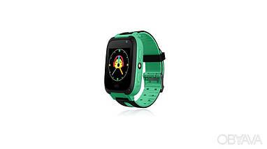 Детские Смарт Часы S4 GPS с сенсорным экраном Цвет Зеленый + Подарок, фото 2