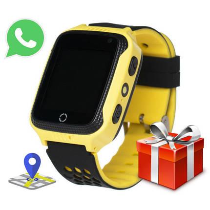 Детские Смарт Часы A15S GPS Цвет Жёлтый + Подарок Сквишь (гарантия 6 мес.), фото 2