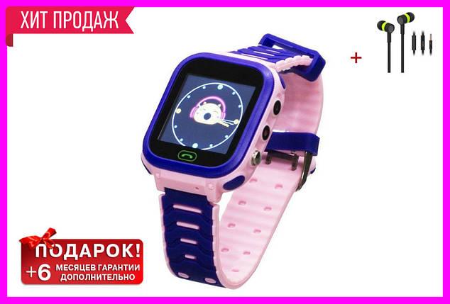 Детские Смарт Часы T18 GPS Цвет Розово-фиолетовый (гарантия 6 мес.) + Подарок вакуумные наушники, фото 2
