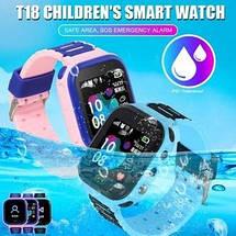 Детские Смарт Часы T18 GPS Цвет Розово-фиолетовый (гарантия 6 мес.) + Подарок вакуумные наушники, фото 3