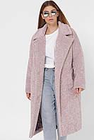 Шуба из искусственного меха модная розовая PL-8856-21