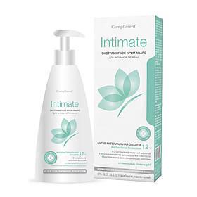Экстрамягкое крем-мыло для интимной гигиены, Антибактериальная защита Intimate Compliment 250 мл.