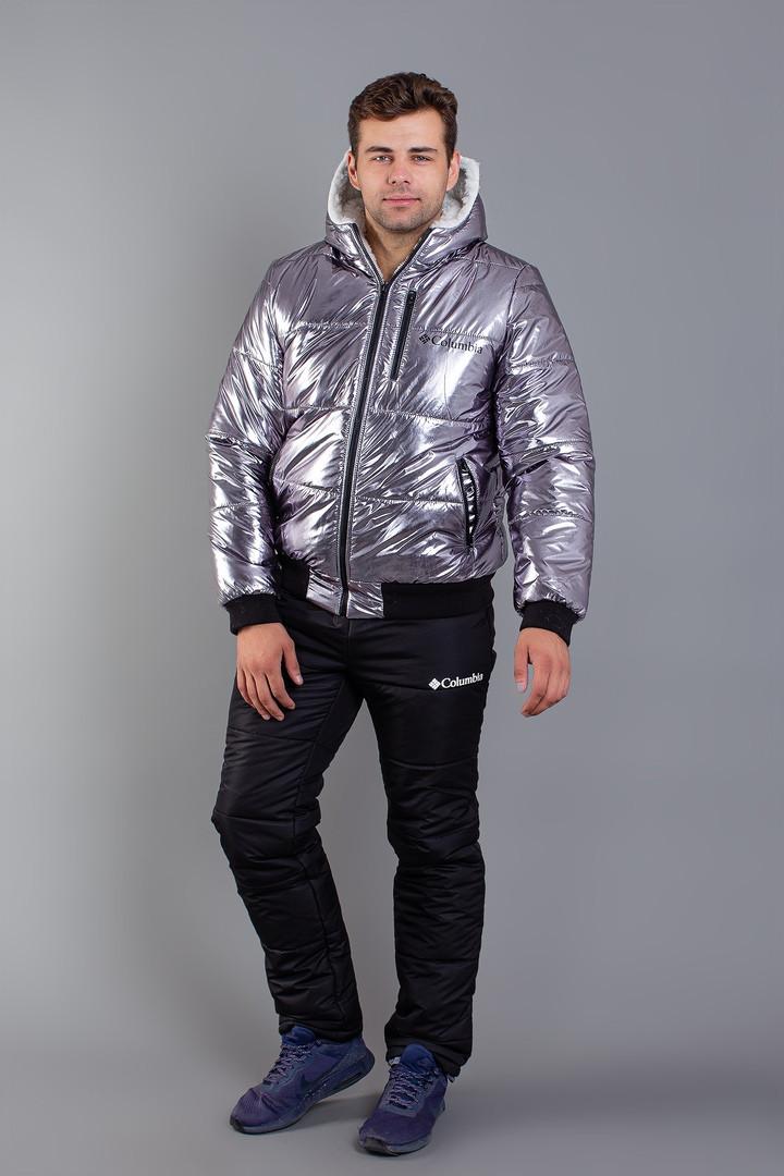 Костюм мужской зимний из плащевки с курткой на меху Копия (К28896)