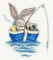 Набор для вышивания Bothy Threads XBB17 Bebunni Gone Fishing Cross Stitch Kit