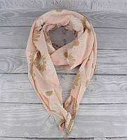 Итальянский шарф Girandola 0001-95 розовый цветочный, коттон 80%, шелк 20%, фото 1